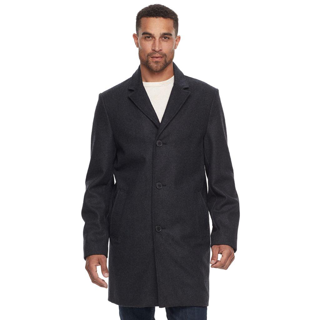 Men's Dockers Full-Length Wool-Blend Top Coat