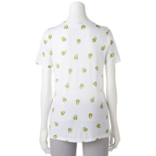 """Juniors' """"Guac And Roll"""" Avocado Graphic Tee"""