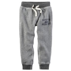 "Toddler Boy Carter's Gray ""Property of Awesome Dept."" Knit Pants"