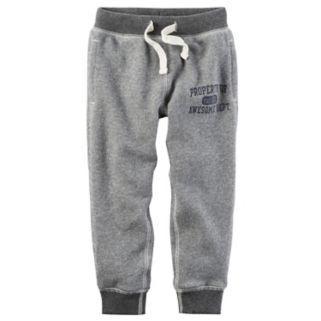 """Toddler Boy Carter's Gray """"Property of Awesome Dept."""" Knit Pants"""