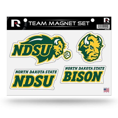 North Dakota State Bison Team Magnet Set