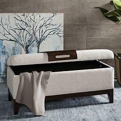 Madison Park Storage Bench & Decorative Serving Tray 2-piece Set