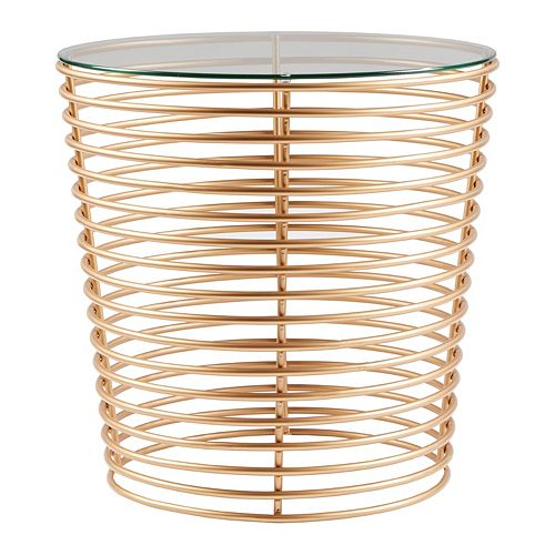 Madison Park Carson Glass Top End Table