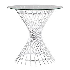 Madison Park Ava Glass Top End Table