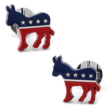 Democratic Donkey Cuff Links