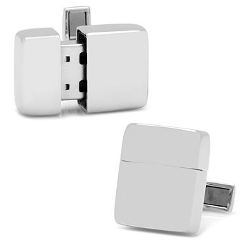 Stainless Steel 16 GB Flash Drive Cuff Links