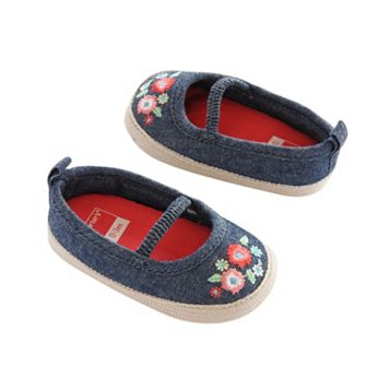 Baby Girl Carter's Embroidered Espadrille Crib Shoes
