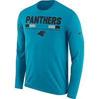 Men's Nike Carolina Panthers Legend Staff Dri-FIT Long-Sleeve Tee