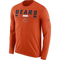 Men's Nike Chicago Bears Legend Staff Dri-FIT Long-Sleeve Tee