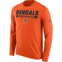 Men's Nike Cincinnati Bengals Legend Staff Dri-FIT Long-Sleeve Tee