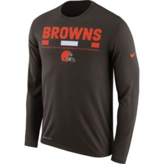 Men's Nike Cleveland Browns Legend Staff Dri-FIT Long-Sleeve Tee