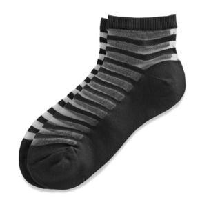 Women's Striped Sheer Quarter Socks
