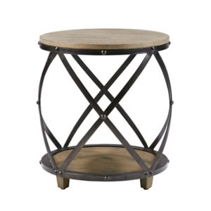 Madison Park Brooklyn Industrial End Table