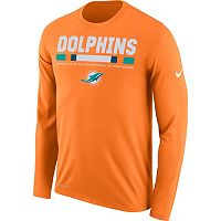 Men's Nike Miami Dolphins Legend Staff Dri-FIT Long-Sleeve Tee