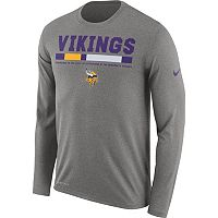 Men's Nike Minnesota Vikings Legend Staff Dri-FIT Long-Sleeve Tee