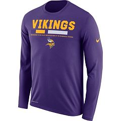 Men's Nike Minnesota Vikings Legend Staff Dri-FIT Long-Sleeve Tee