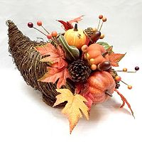 Celebrate Fall Together Artificial Cornucopia Table Decor