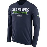 Men's Nike Seattle Seahawks Legend Staff Dri-FIT Long-Sleeve Tee