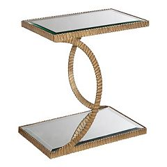Madison Park Kylie Mirrored End Table