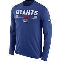 Men's Nike New York Giants Legend Staff Dri-FIT Long-Sleeve Tee