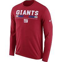 Men's Nike New York Giants Legend Staff Dri-FIT Long-Sleeve Tee