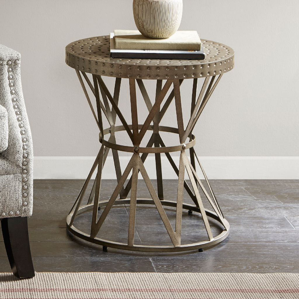 Madison Park Gaven Industrial End Table