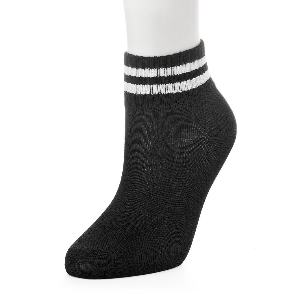Women's Sporty Striped Crew Socks