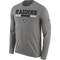 Men's Nike Oakland Raiders Legend Staff Dri-FIT Long-Sleeve Tee