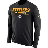 Men's Nike Pittsburgh Steelers Legend Staff Dri-FIT Long-Sleeve Tee