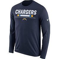 Men's Nike San Diego Chargers Legend Staff Dri-FIT Long-Sleeve Tee