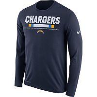 Men's Nike San DiegoChargers Legend Staff Dri-FIT Long-Sleeve Tee