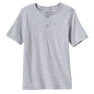 Toddler Boy Jumping Beans® Short Sleeve Solid Slubbed Henley Tee