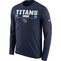 Men's Nike Tennessee Titans Legend Staff Dri-FIT Long-Sleeve Tee