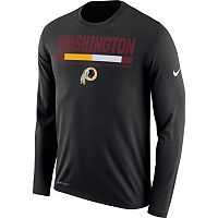 Men's Nike Washington Redskins Legend Staff Dri-FIT Long-Sleeve Tee