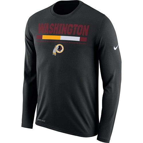 1e61e68eb Men's Nike Washington Redskins Legend Staff Dri-FIT Long-Sleeve Tee
