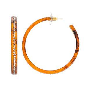 Jennifer Lopez Studded Hoop Earrings