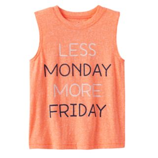 """Toddler Boy Jumping Beans® """"Less Monday More Friday"""" Snow Nep Muscle Tank Top"""
