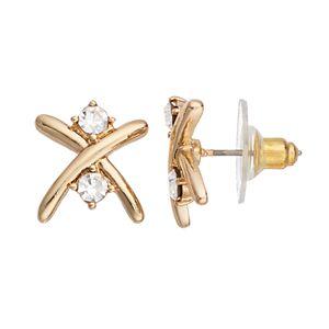 Jennifer Lopez Crisscross Stud Earrings