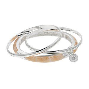 Jennifer Lopez Bangle & Marbled Stretch Bracelet Set