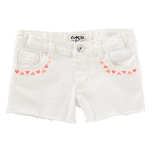 Toddler Girl OshKosh B'gosh® Geometric Embroidered Frayed Shorts