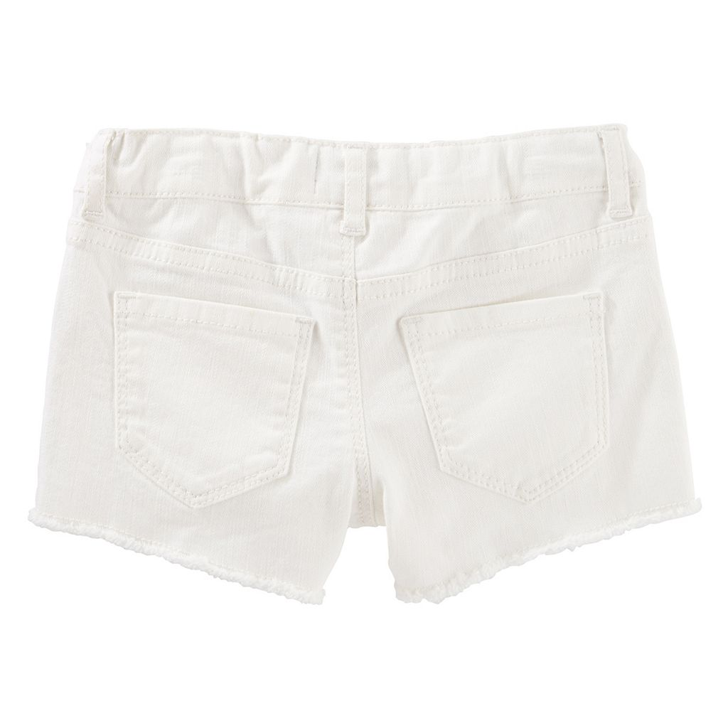 Toddler Girl OshKosh B'gosh® Geometric Embroidered Frayed Shorts