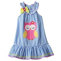 Girls 4-6x Nanette Seersucker Sleeveless Dress With Applique Detail