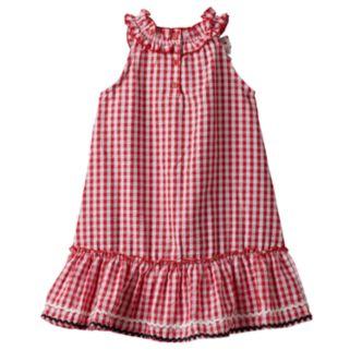 Baby Girl Nanette Seersucker Sleeveless Dress With Applique Detail
