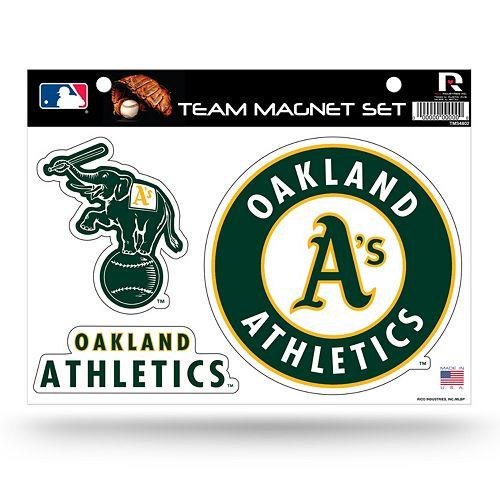Oakland Athletics Team Magnet Set