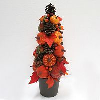 Celebrate Fall Together Artificial Leaves & Pumpkin Floor Decor