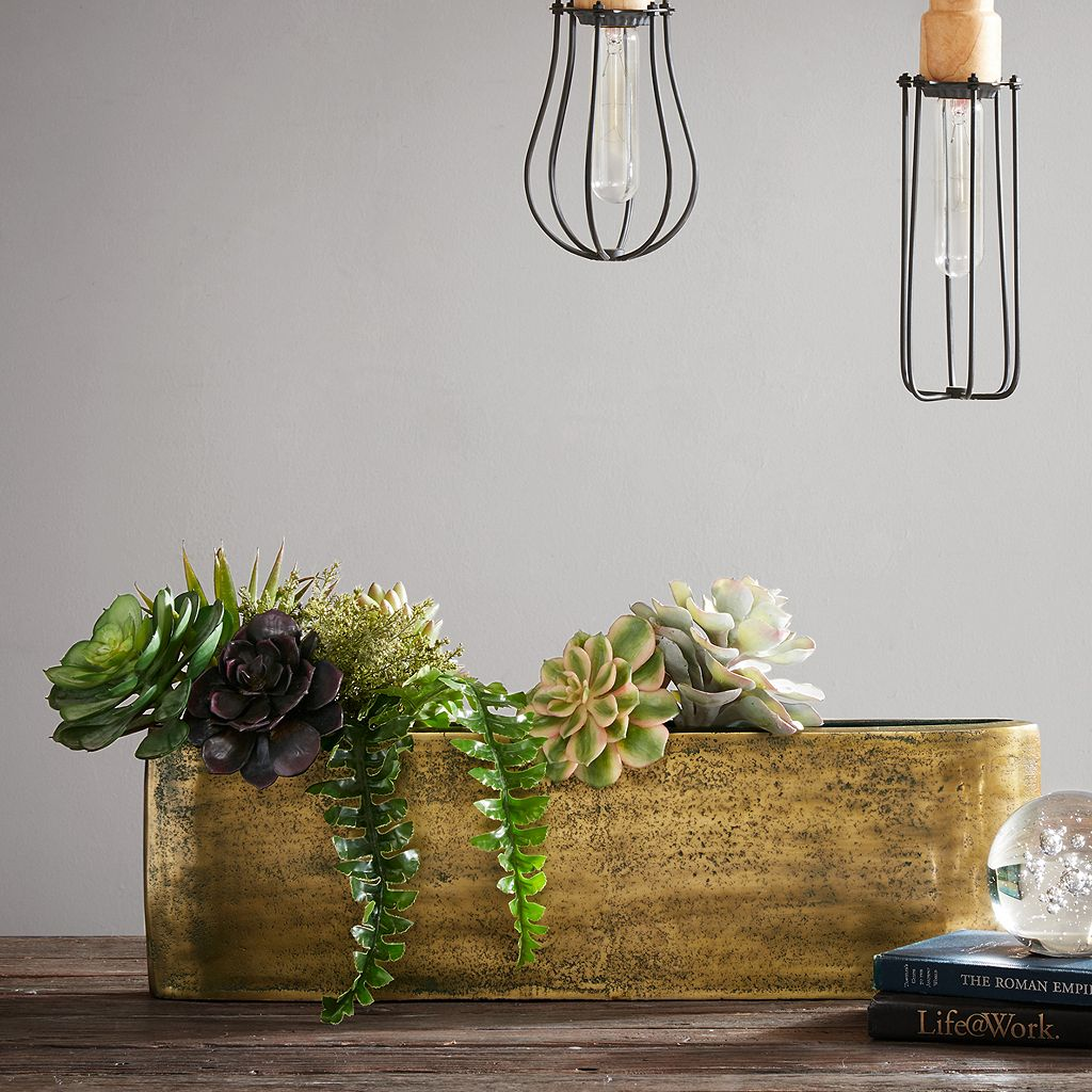 INK+IVY Henley Medium Slender Brass Vase