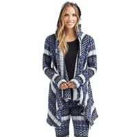 Women's Cuddl Duds Fleece Hooded Wrap Cardigan