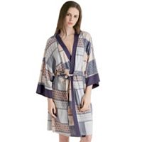 Women's INK+IVY Patchwork Print Kimono Robe