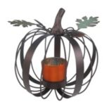 Celebrate Fall Together Small Pumpkin Tealight Candle Holder