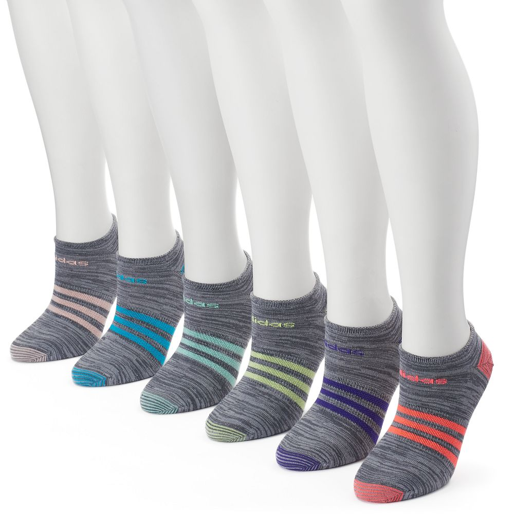 Women s adidas 6-pk. Superlite Striped Compression No-Show Socks 7d3145d89